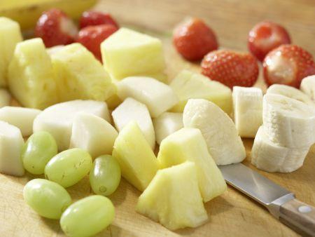 Obst am Spieß: Zubereitungsschritt 1