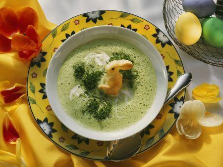 Rezept: Österliche Kressesuppe mit Häschen