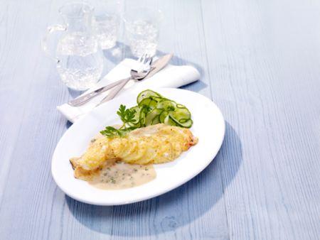 Ofenforellenfilets mit Kartoffel-Käse-Schuppen