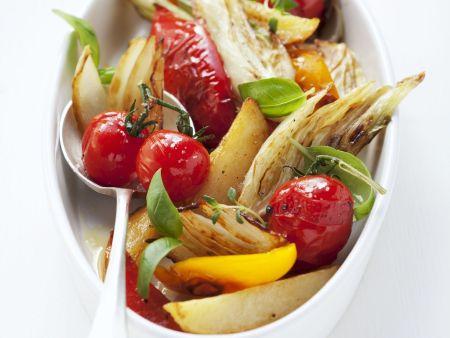 Kochbuch für Ofengemüse-Rezepte