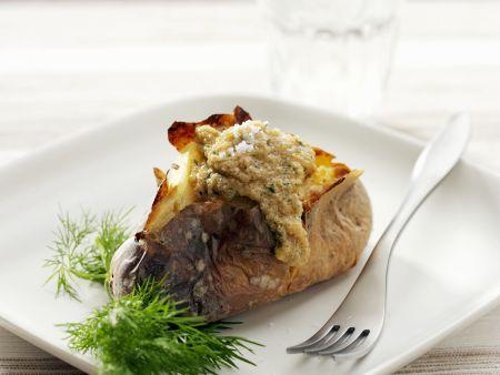 Ofenkartoffel mit Amarantsoße