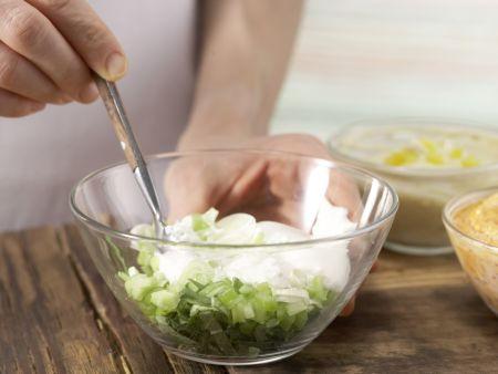 Ofenkartoffeln mit bunten Dips: Zubereitungsschritt 10