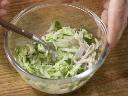 Omelett-Burger mit Zucchini: Zubereitungsschritt 4