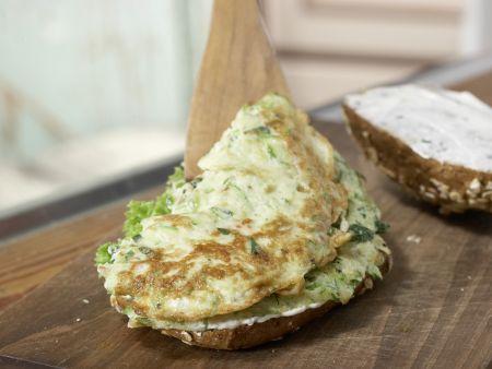 Omelett-Burger mit Zucchini: Zubereitungsschritt 8