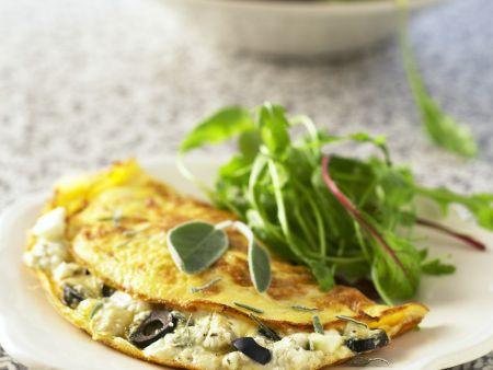 Omelett mit Kräuterfrischkäse