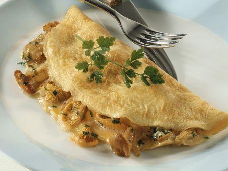 Omelett mit Pfifferlingsgemüse