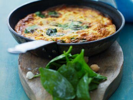 omelette mit spinat rezept eat smarter. Black Bedroom Furniture Sets. Home Design Ideas