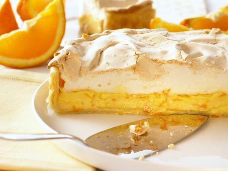 Orangen-Baiser-Kuchen