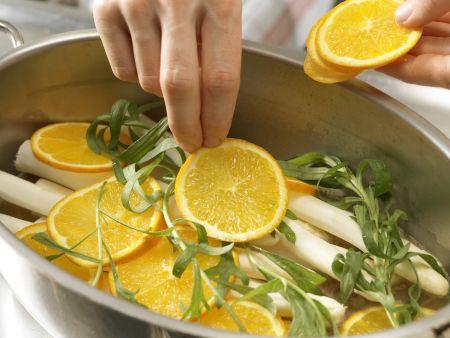 Orangen-Estragon-Spargel: Zubereitungsschritt 5