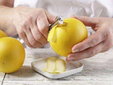Orangen-Flan mit Pistazien: Zubereitungsschritt 2