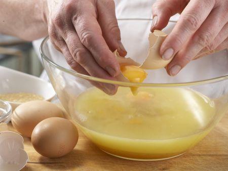 Orangen-Flan mit Pistazien: Zubereitungsschritt 5