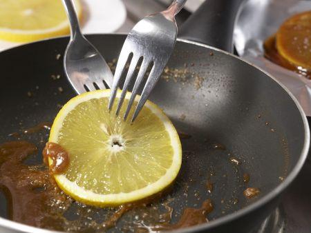 Orangen-Flan mit Pistazien: Zubereitungsschritt 8