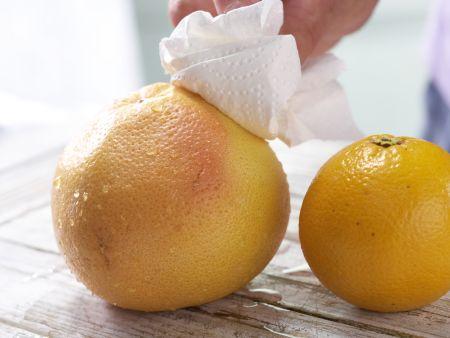 Orangen-Grapefruit-Salat: Zubereitungsschritt 1