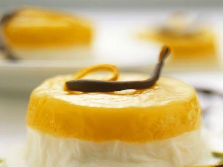 Orangen-Milchcreme