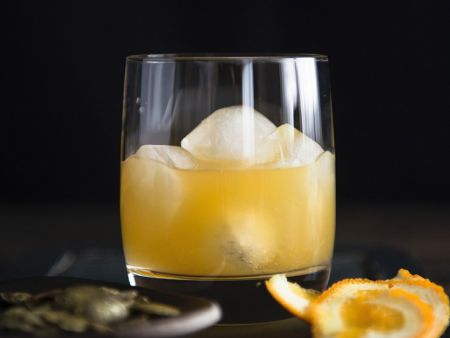 Orangen-Whiskey-Drink