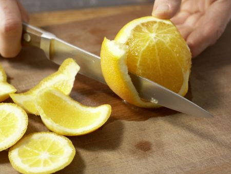 Orangencreme mit Quark und Joghurt: Zubereitungsschritt 1