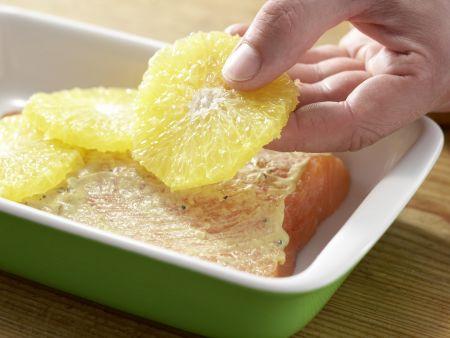 Orangenlachs mit Lauch-Risotto: Zubereitungsschritt 4