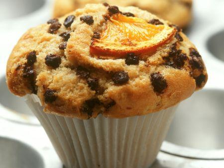 Rezept: Orangenmuffin mit Schokoladentropfen