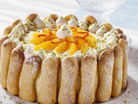 Orangentorte mit Löffelbiskuit