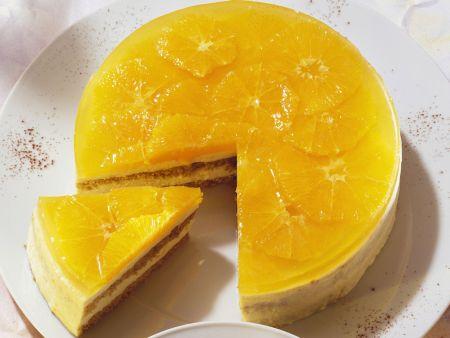 Orangentorte mit Moussefüllung