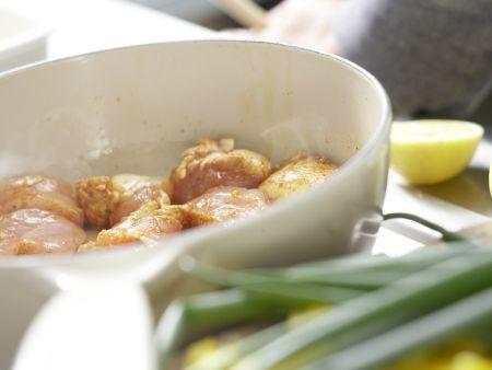 Paella mit Hähnchen: Zubereitungsschritt 4