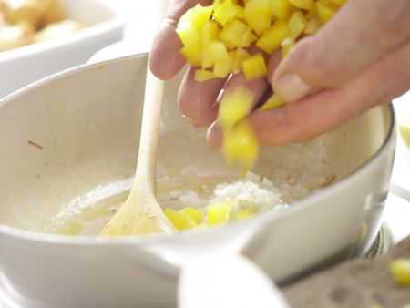Paella mit Hähnchen: Zubereitungsschritt 5