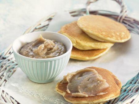 Pancakes mit Kastanienmousse