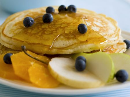 Pancakes mit Obst