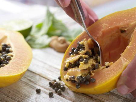 Papaya-Carpaccio: Zubereitungsschritt 1