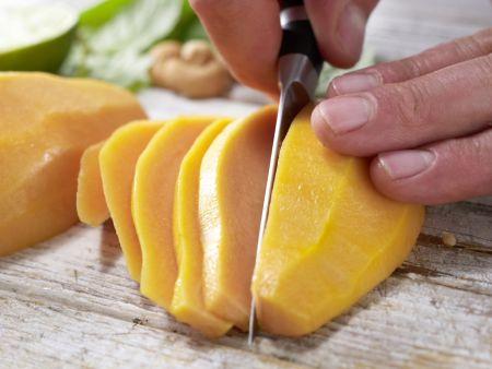 Papaya-Carpaccio: Zubereitungsschritt 2