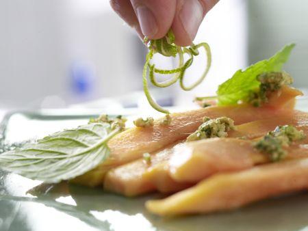 Papaya-Carpaccio: Zubereitungsschritt 8