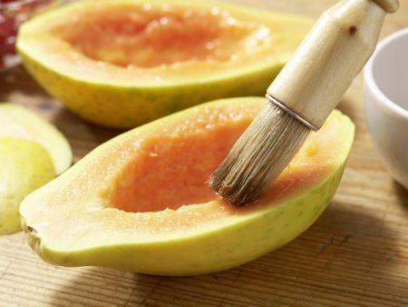 Papaya mit Eisfüllung: Zubereitungsschritt 5