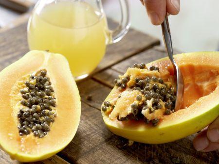 Papaya-Mango-Shake: Zubereitungsschritt 1