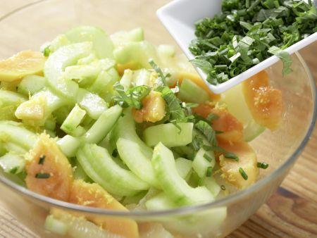 Papayasalat mit Gurken: Zubereitungsschritt 7