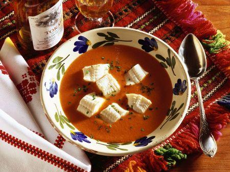 Paprika-Fischsuppe