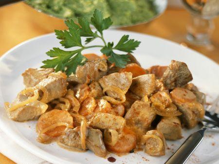 Paprika-Geschnetzeltes mit Gemüse