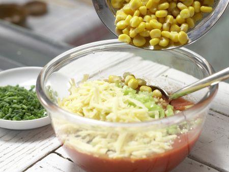 Paprika-Mais-Dip: Zubereitungsschritt 6
