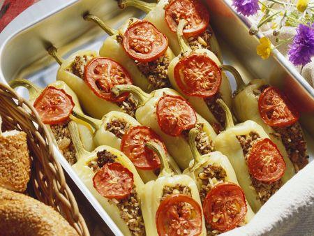 Rezept: Paprika mit Hachfleischfüllung