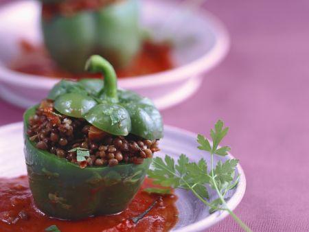 Rezept: Paprika mit Linsenfüllung