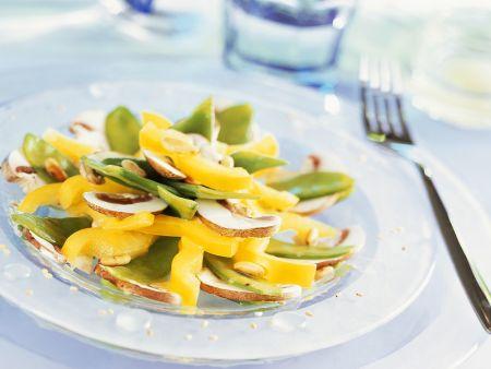 Paprika-Pilzsalat