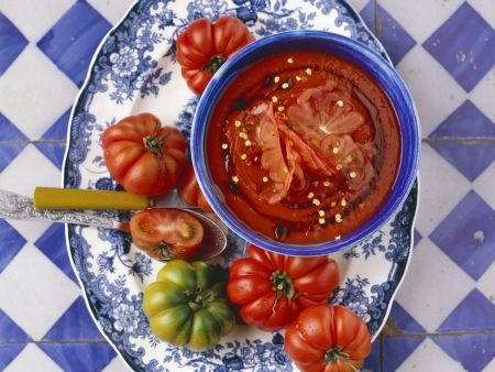 Paprika-Tomatensuppe