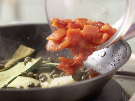 Paprika-Zucchini-Nudeln: Zubereitungsschritt 8