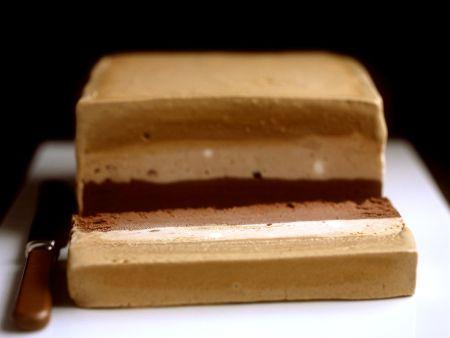 Parfait mit Schokolade, Kaffee und Kastanien