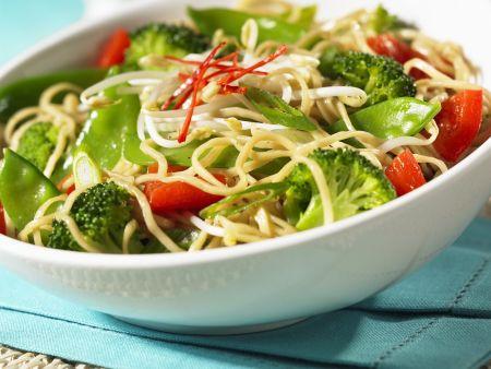 Rezept: Pasta-Gemüse-Pfanne