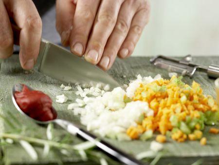 Pasta in Hirsch-Schoko-Sauce: Zubereitungsschritt 2
