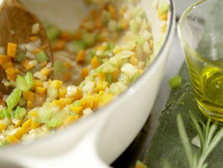 Pasta in Hirsch-Schoko-Sauce: Zubereitungsschritt 4