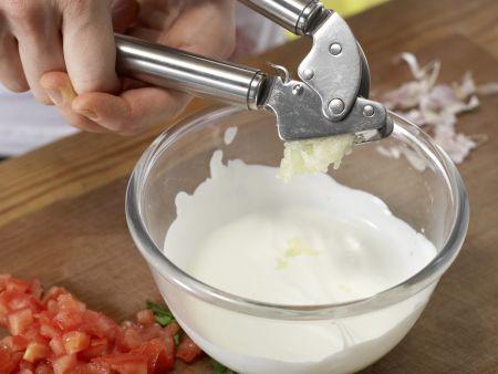 Pasta mit Knoblauchsauce: Zubereitungsschritt 4