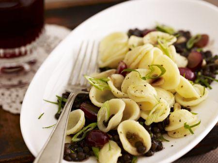 Rezept: Pasta mit Balsamico-Linsen-Gemüse