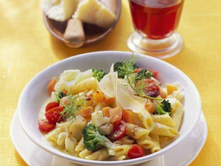 Rezept: Pasta mit Gemüsesoße