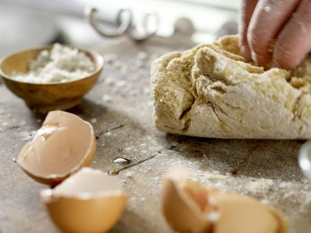 Pasta mit geräucherter Forelle: Zubereitungsschritt 2
